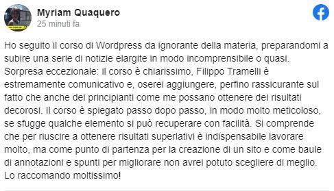 recensione corso WP quaquero